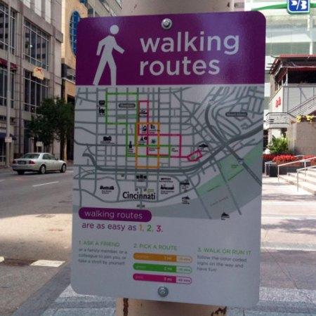 Walking Routes in Downtown Cincinnati