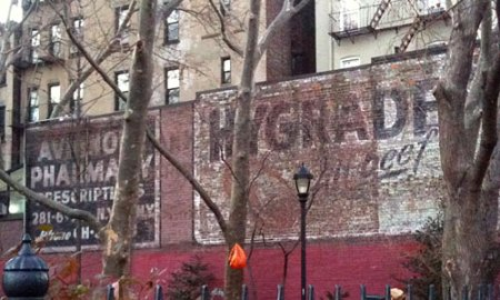 Hygrade's All Beef Ghost Sign in Winston Churchill Square