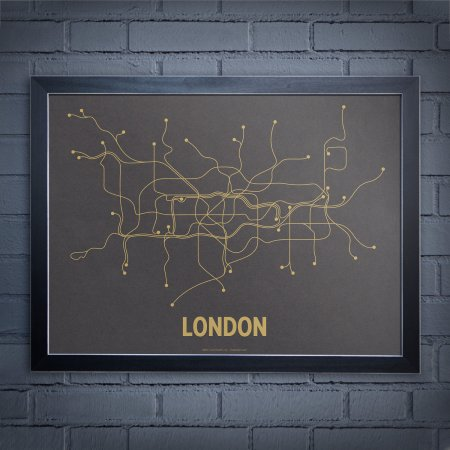 Subway Map Art by Lineposters