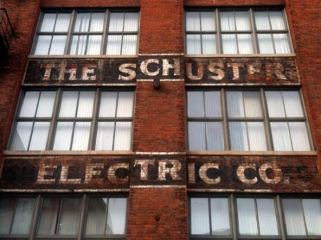 Schuster Electric Co. Ghost Sign in Cincinnati