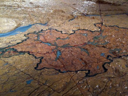 NYC Water Supply System Relief Map at the Queens Museum of Art