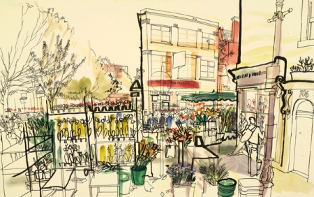 Columbia Rd. Flower Market by Lucinda Rogers
