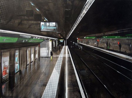 Urban-Inspired Mixed Media Painting by Demetrius Romanos