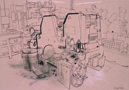 KTP Printers, Princelet St. by Lucinda Rogers