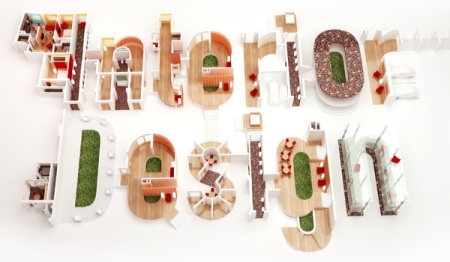 Interior Design Typography by Fly Arts Group