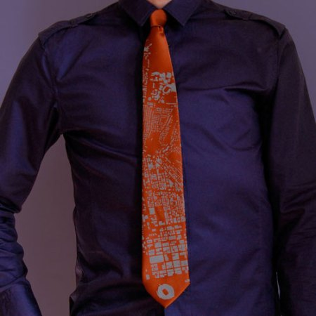 Cincinnati Building Footprint Necktie by VisuaLingual