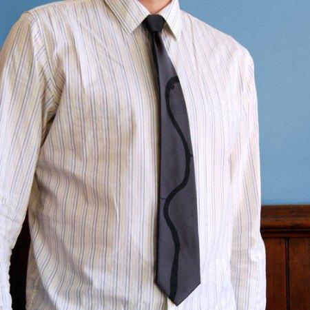 Ohio River necktie by VisuaLingual