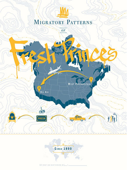 Migratory Patterns of Fresh Princes by Pop Chart Lab