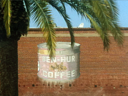 Ben-Hur Coffee Ghost Sign in San Diego