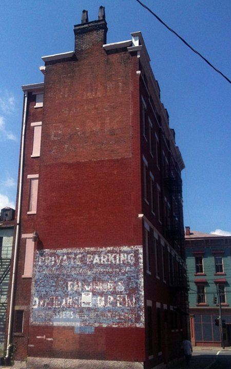 Private Parking Ghost Sign in Over-the-Rhine