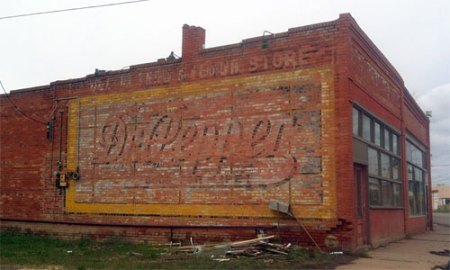Dr. Pepper Ghost Sign in Trinidad, CO