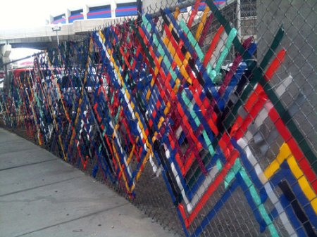 Woven Construction Fence in Downtown Cincinnati