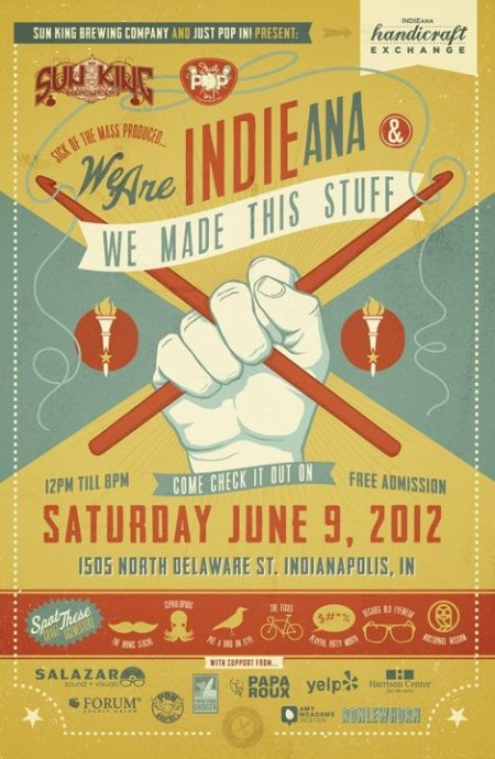 INDIEana Handicraft Exchange 2012 poster by RONLEWHORN