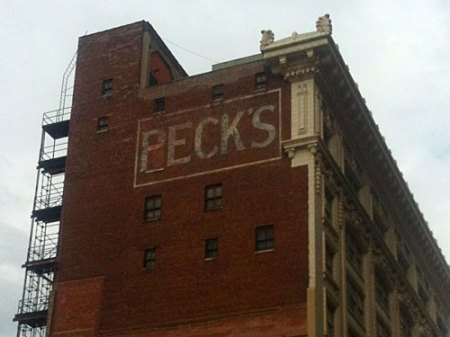 Peck's Ghost Sign in Kansas City, MO
