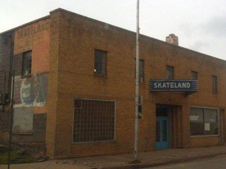 Skateland Ghost Sign in Trinidad, CO