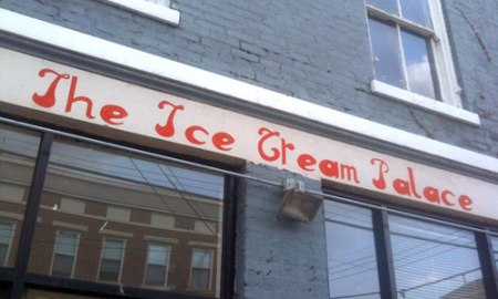 The Ice Cream Palace Ghost Sign in Over-the-Rhine