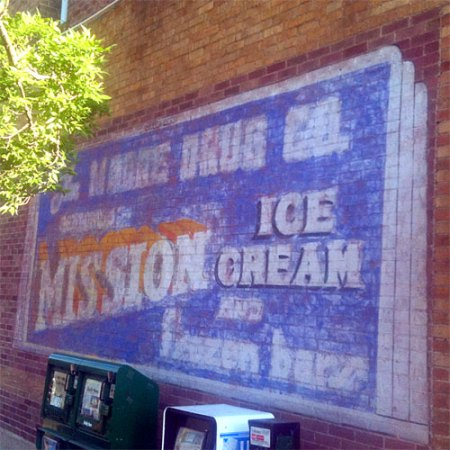 Mission Ice Cream Ghost Sign in Flagstaff, AZ