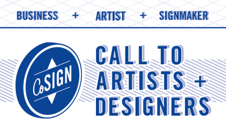 CoSign Call to Artists + Designers