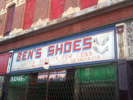 Ben's Shoes Ghost Sign in Chicago