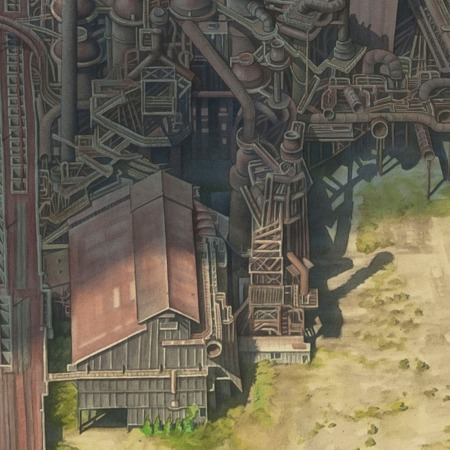 detail of Bethlehem Steel by Micah Ganske