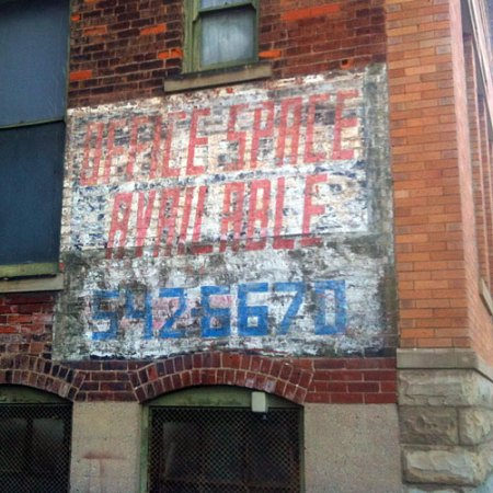 Office Space Available Ghost Sign in Cincinnati