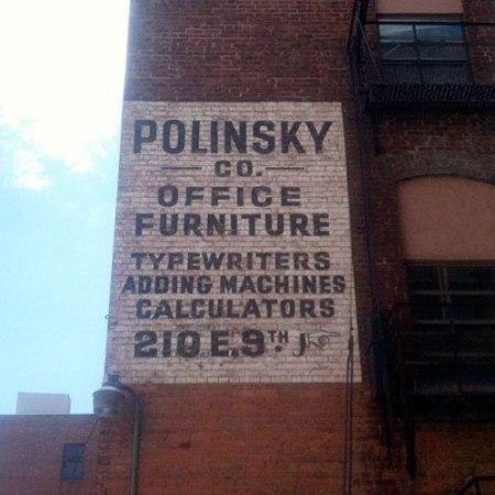 Polinsky Co. Ghost Sign in Cincinnati