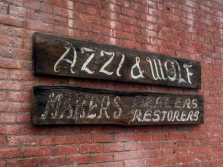 Azzi & Wolf Ghost Sign in Over-the-Rhine