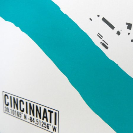Cincinnati Building Footprint Print by VisuaLingual