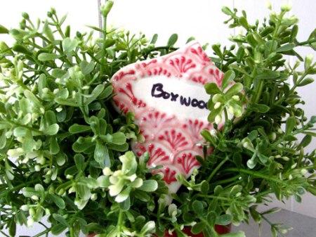 porcelain garden marker by Cynthia Vardhan