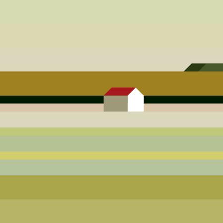 Landscape With House by Maria Zaikina