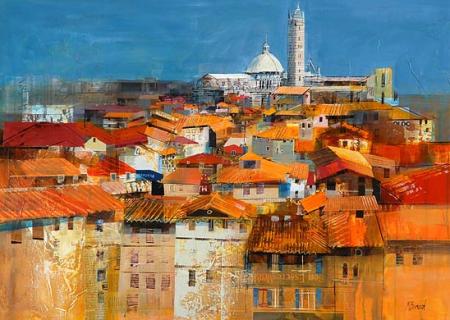Siena Rooftops by Mike Bernard