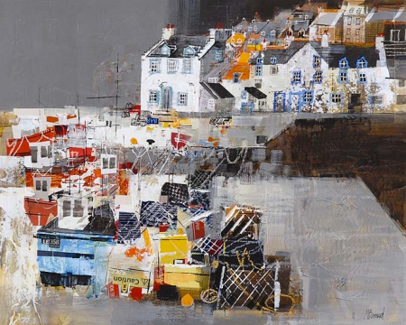 Scottish Harbour by Mike Bernard