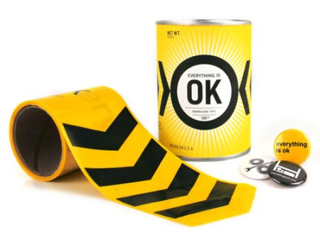 Everything Is OK barricade tape by MINE™