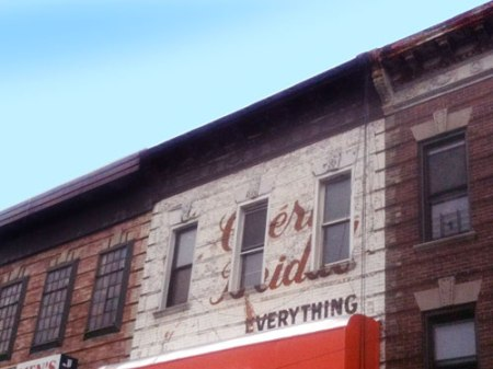 Everything Ghost Sign in Brooklyn