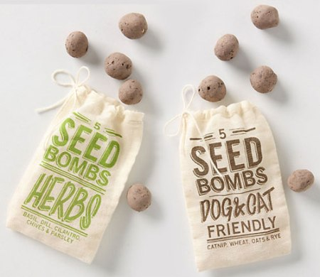 Seed Bombs at Anthropologie