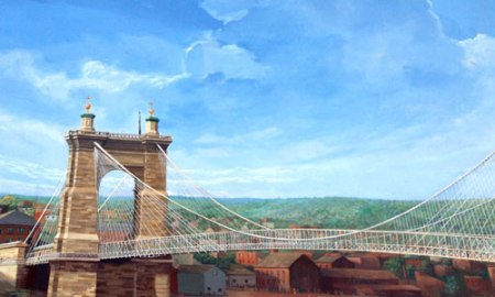 The Roebling Murals at the Covington Waterfront