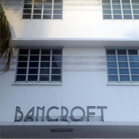 Bancroft Hotel Ghost Sign in Miami Beach