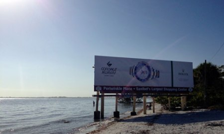 billboard on the way to Sanibel Island, FL