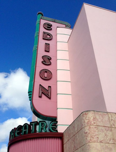 Edison Theatre Ghost Sign in Fort Meyers