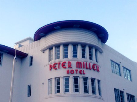 Peter Miller Hotel Ghost Sign in Miami Beach