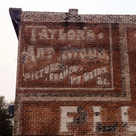 Taylor's Art Store Ghost Sign in Savannah