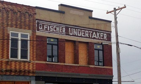 D. Fischer Undertaker Ghost Sign in Cullman, AL