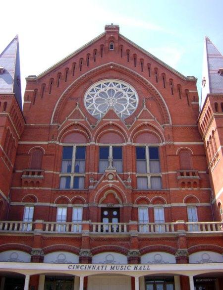Music Hall in Over-the-Rhine, Cincinnati
