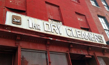 1 Hr. Dry Cleaners Ghost Sign in Baltimore