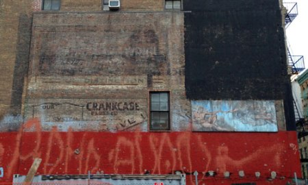 Crankcase Ghost Sign in NYC