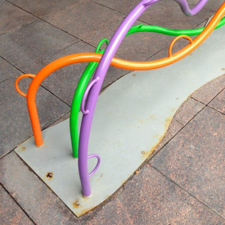 Currents Bike Rack by Claire Darley and Rebecca Seeman