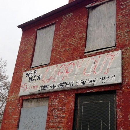 Hee Haw Carry Out Ghost Sign in Baltimore