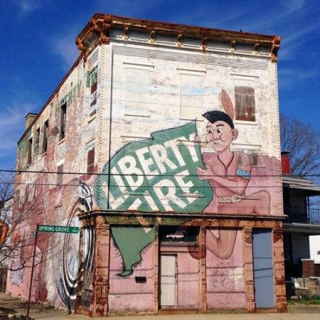 Liberty Tire Ghost Sign in Cincinnati