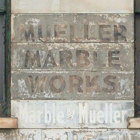 Mueller Marble Works Ghost Sign in Cincinnati