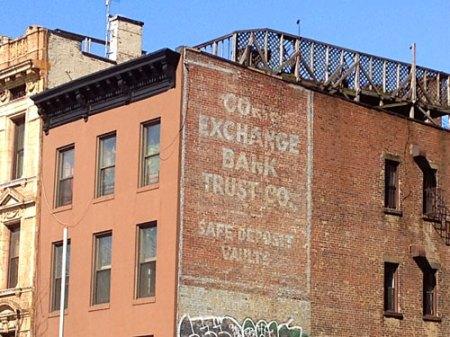 Corn Exchange Bank Trust Co. Ghost Sign in Brooklyn